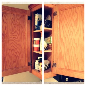 Unused storage space in this cabinet?  Yes!