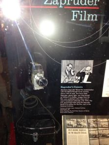 Abraham Zapruder's famous camera. The private citizen captured the infamous deed on this home-movie camera.